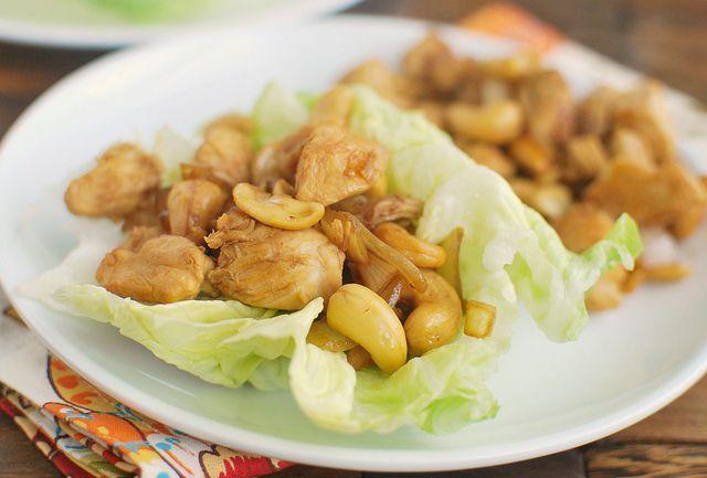... chicken and cashews in lettuce wraps chicken and cashews in lettuce