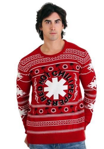 The Red Hot Chili Peppers Palm Trees Ugly Christmas Sweaterchili