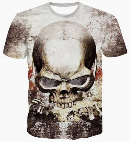 SHARE & Get it FREE | Fashion Pullover Skull Printing T-Shirt For MenFor…