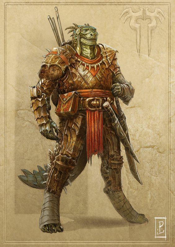 Argonian Warrior by LyntonLevengood on deviantART: