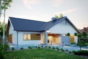 Projekt domu jednorodzinnego NF1 - STUDIO ARCHITEKTONICZNE AR - architekt ARTUR RZEPUS Czechowice-Dziedzice
