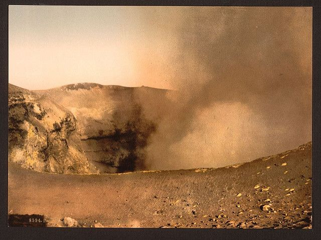 [Mount Vesuvius, the crater, Naples, Italy] (LOC) | [Mount V… | Flickr