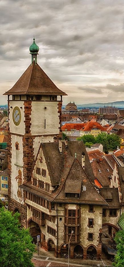 Freiburg ~ is situated at the foot of the Black Forest's wooded slopes and vineyards in Germany