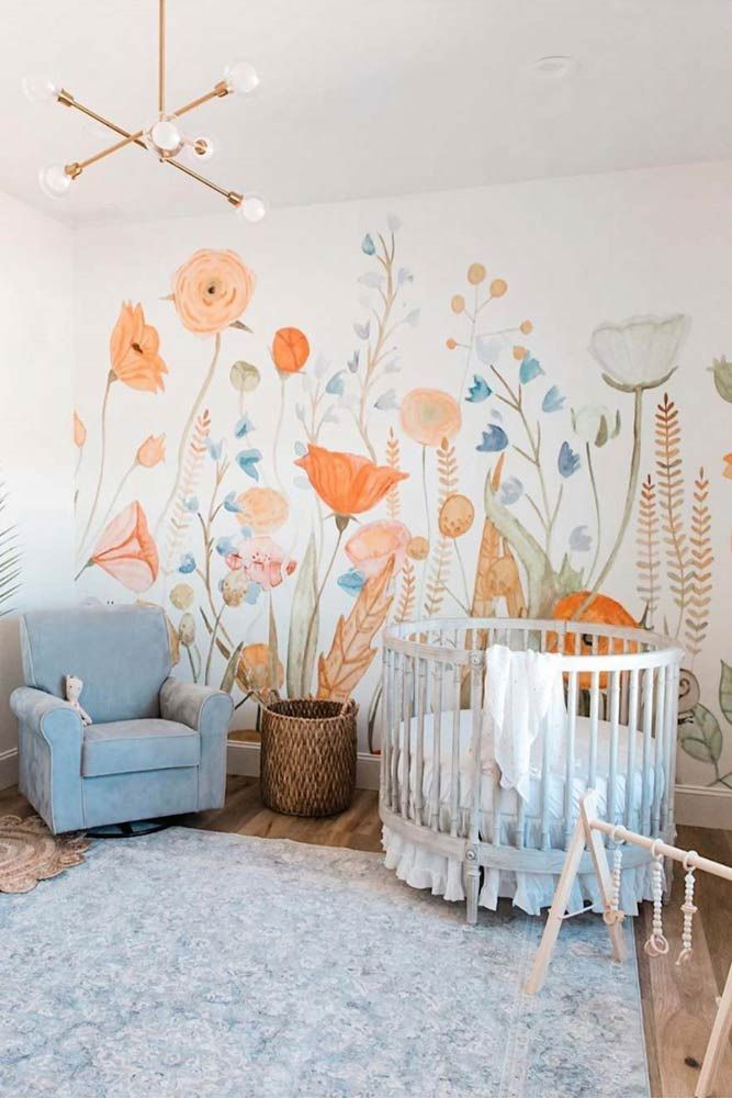 50 Gorgeous Nursery Ideas To Bring Up Your Baby With Taste For Style Kids Room Murals Baby Room Decor Baby Girl Nursery Room