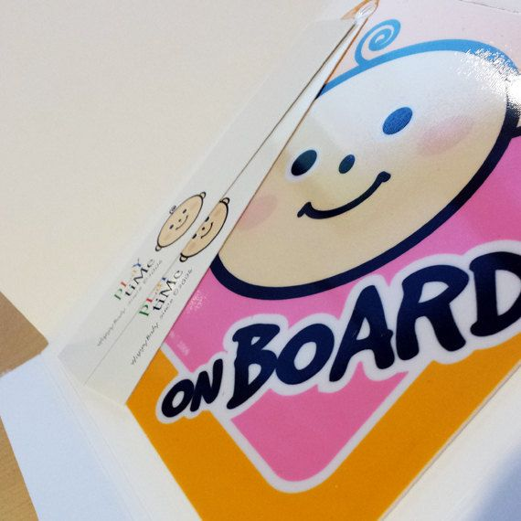 Cute Baby on Board Sign for Boys n' Girls by KainosCollective