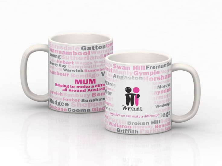 Get mum her own customized mug this Mother's Day! You can customize it with her name or a little message! Such a great gift! $19.95 http://shoppink.mcgrathfoundation.com.au/prodetail.asp?proid=37069&tags%5b%5d=Living