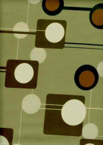 Honolulu Sage Atomic Print Mid Century Modern Bark Crepe Textured