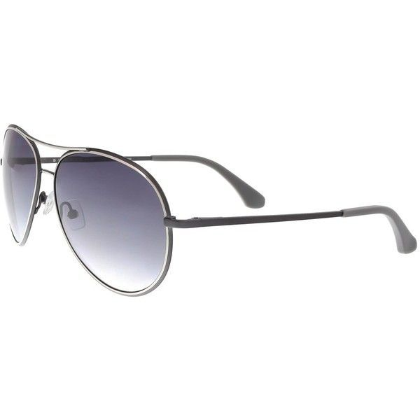 Sj144s 035 Grey Aviator Sunglasses ($72) ❤ liked on Polyvore featuring men's fashion, men's accessories, men's eyewear, men's sunglasses, grey and mens aviator sunglasses #mensaccessoriessunglasses