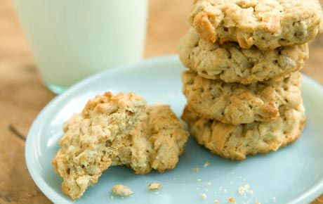 Oatmeal Coconut Sunflower Seed Cookies.  These are delicious.  The recipe as listed is a little too crumbly so I add an extra egg...very moist.