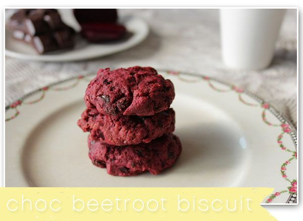 Chocolate Beetroot Biscuit   more beetroot recipe