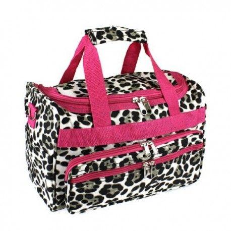"13"" Pink Leopard Duffle Bag"