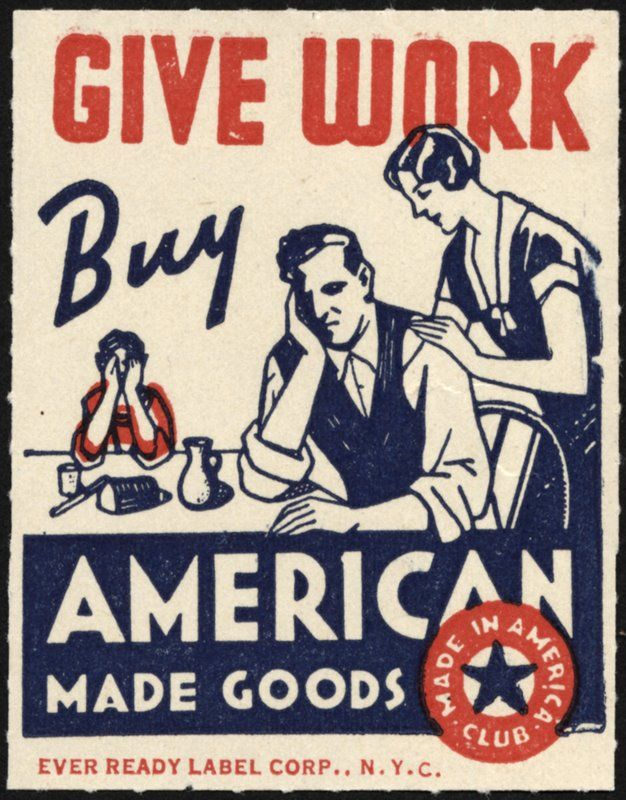 Vintage Posters, Labor Day, Buyamerican, American Made, Motivation Posters, Buy American, Old Ads, Back To Work, Shops Local