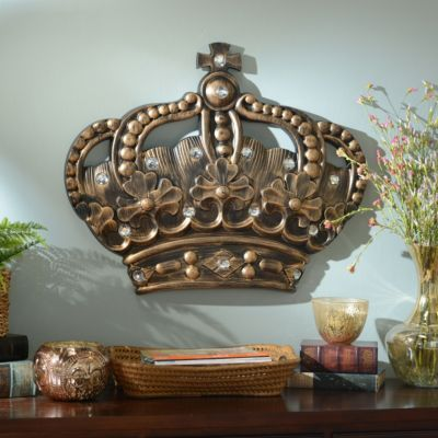 High Quality Her Crown Gold Jeweled Wall Plaque