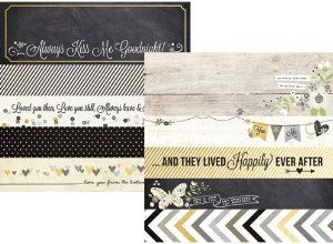 Simple Stories The Story of Us 2x12 Borders & 4x12 Title Strip Wedding Paper - 11 Main