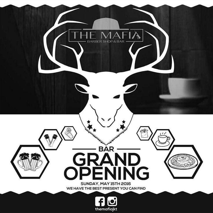 15th may its the grand opening for the mafia bar located at jalan taman ratu raya blok bb1 no 3a. See you around!!  . . #themafiajkt #themafiabar #themafiabarbershop #barbershop #bar #grandopening #15th #coffee #beer #pasta #food #cheers by agathaolivia