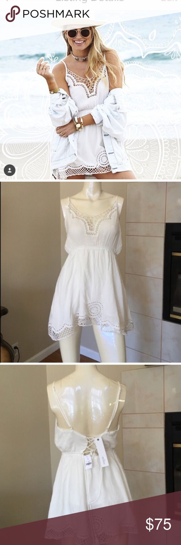 LF crochet lace lace up back dress NWT LF Dresses