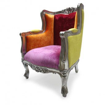 funky furniture french funky upholstered chair designer luxury bohemian wing chair