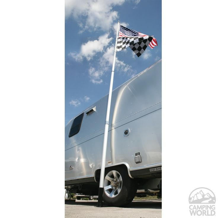 Portable 20' Telescoping Flagpole - Camco 51600 - Flags & Accessories - Camping World