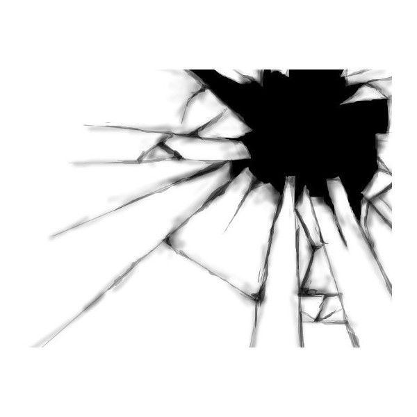 "Broken glass an abstract drawing by X3Innocent in group ""The art of... ❤ liked on Polyvore"