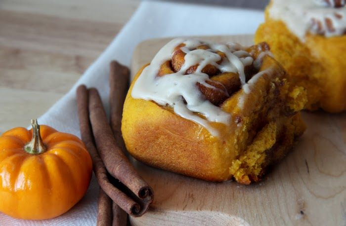 brightside: recipe | amish pumpkin cinnamon rolls with caramel icing ...