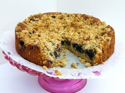 Blueberry Crumble Cake from Tinned Tomatoes blog, looks gorgeous and a wonderful way to use up blueberries!