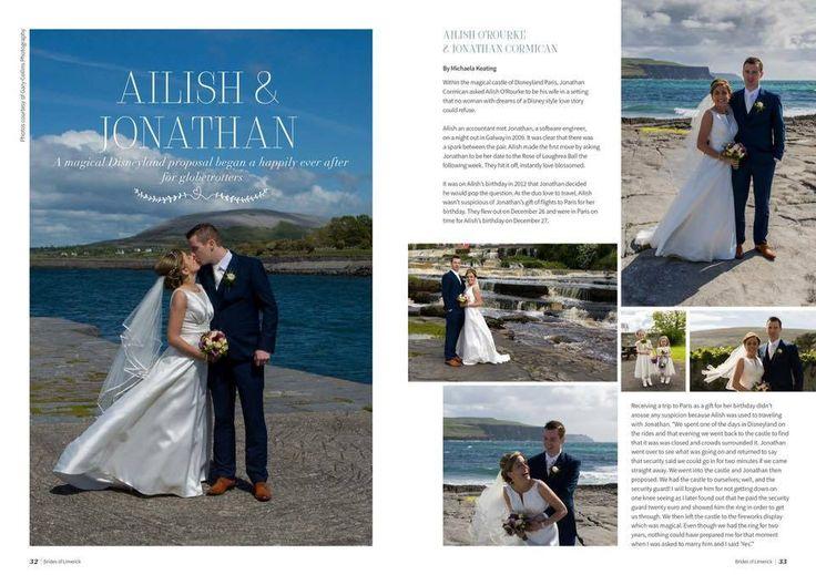 Ailish & Jonathan's Wedding  Featured in Brides of Limerick magazine, Winter 2015