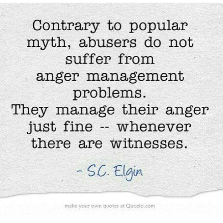 Anger and narcissistic sociopath relationship abuse. Yup.