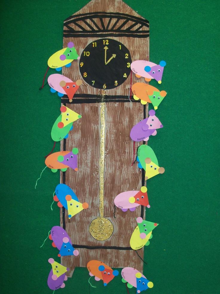 hickory dickory dock shape mice | kid crafts | Pinterest ...