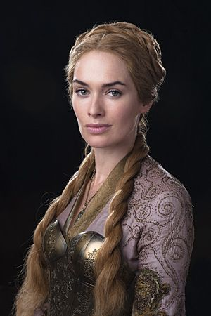 Lena Headey as Cersei. I wasn't sure about this when I watched the Blackwater episode. I think a breastplate makes sense, but the overbust corset style seems to have little practical use but I guess it looks cool.