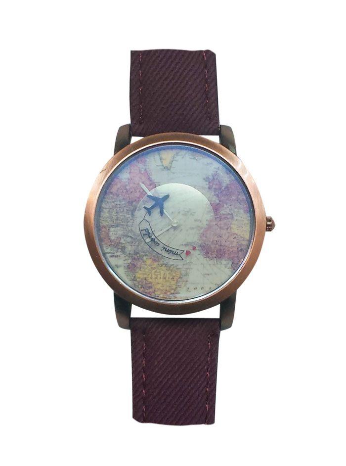 Haritalı Dönen Uçaklı Saat MC10280914246
