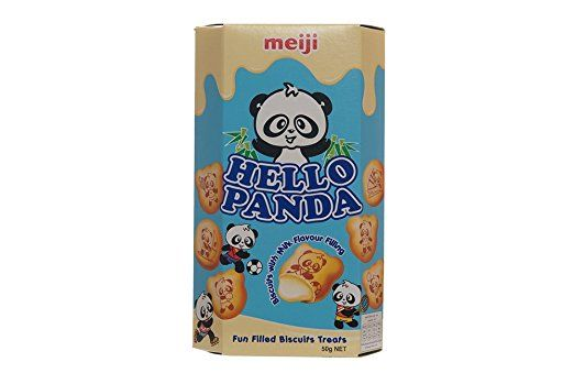 Meiji Hello Panda Biscuits with Milk Flavour Filling 50g