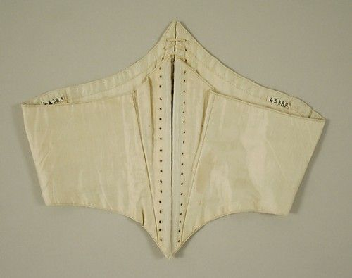 """Corselet, 1860s, American or European, Met; Links to """"Swiss Waist, Waist Cincher, Corset, and Corselet: what's the difference?"""""""