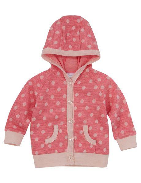 Teeny Weeny Merino Merino Wool Hooded Spot Cardigan product photo