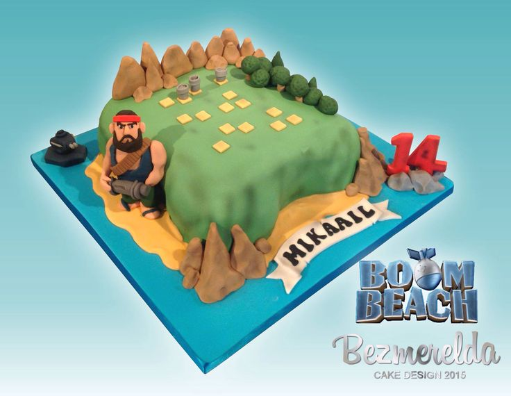 49 Best Boom Beach Party Sweet Table Images On Pinterest Beach