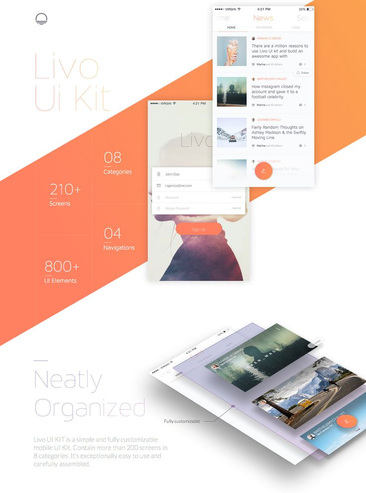 Livo UI Kit on Behance