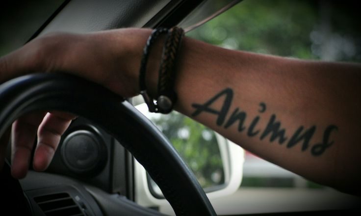 "Love the meaning of this tattoo - ""spirit"", ""soul"", ""soulmate"", ""the other half"". Women search for their ""animus"" while men search for their ""anima"""