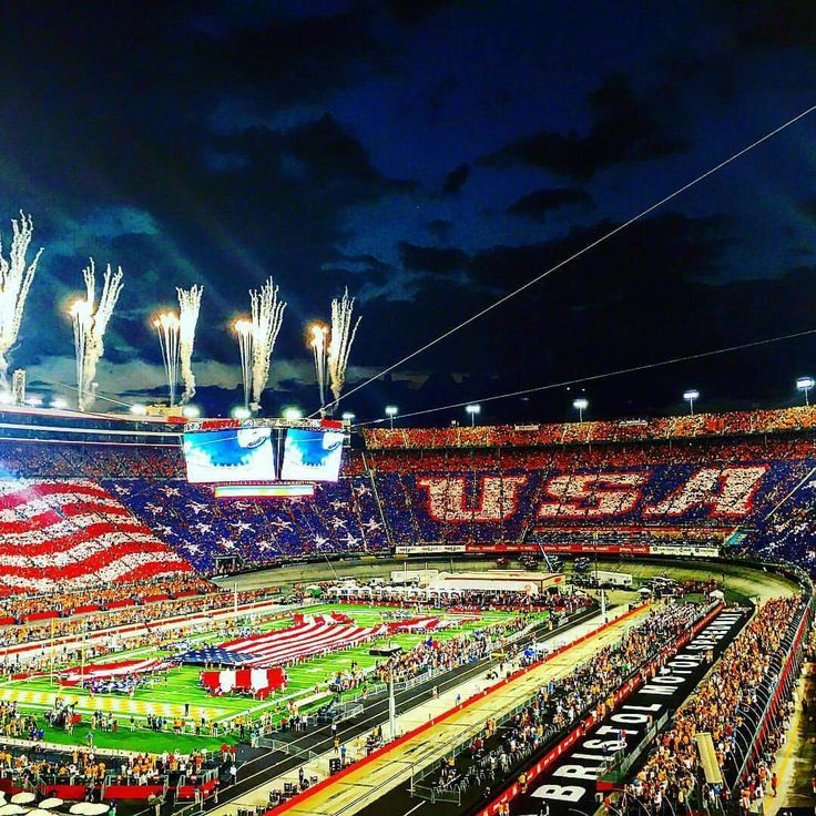 I'm so proud of my home town for the beautiful display of patriotism during the Battle at Bristol, on September 10th, 2016 @ Bristol Motor Speedway, Bristol Tennessee.
