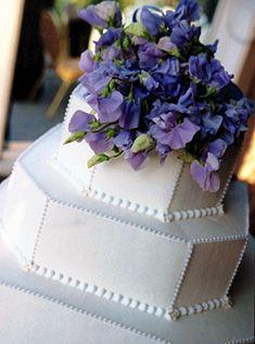 Corners cut on a square cake