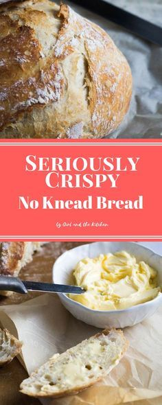 Forget getting out the mixer or thebread maker in order to achieve perfect homemade bread! This seriously crispy no knead bread requires no mixer, no dough hook nor any time to knead by hand! Magic happens quite simply with just a fewpantry ingredients! I may be a bit late to the No Knead Bread band …