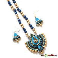 Exclusive Terracotta Jewelry Tags: Terracotta, HandiCraft, Bengal Art, JewelrySet
