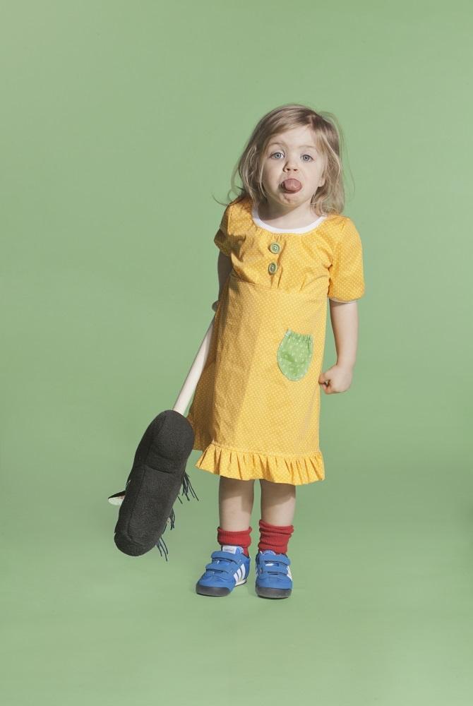 Popliini Dress- Yellow Polkadots