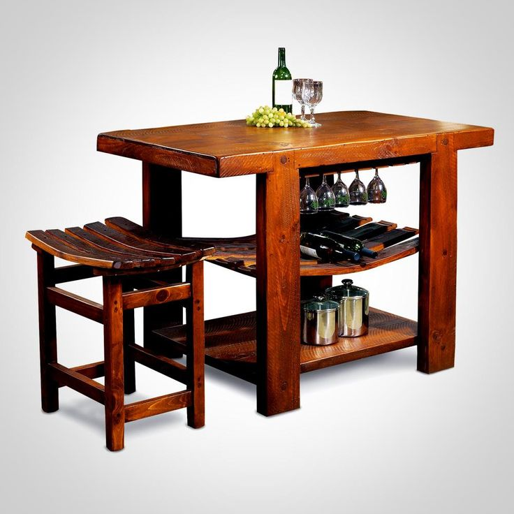 Russian River Kitchen Island And Bench