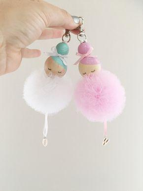 Süße Idee ❤ Anhänger für die Handtasche bast…