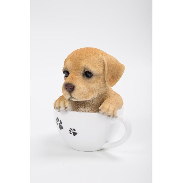 Teacup Labrador Puppy Statue Labrador Puppy Peppermint Candy Ornaments Puppies