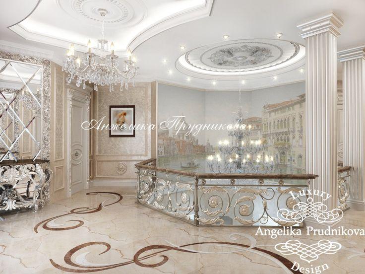 Дизайн интерьера холла второго этажа - Дизайн коттеджей