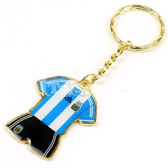 Soccer/Football  -  Argentina Metal Key Chains.