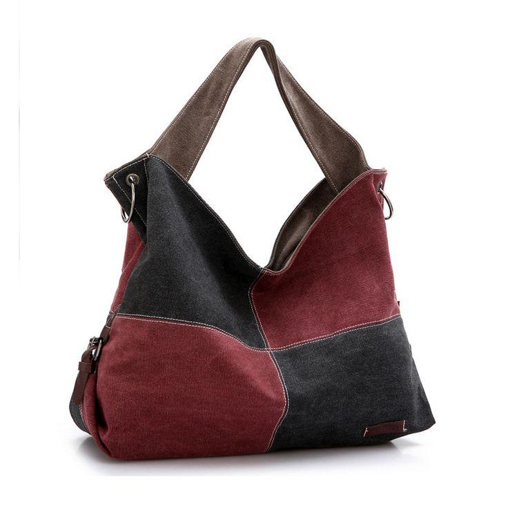 Новые сумки марка дизайнер большой плед чистый холст женщин сумки большой хобо…