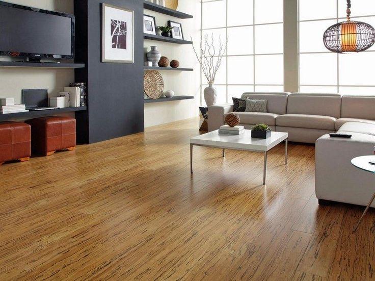 salon avec revêtement de sol en parquet flottant en liège Real Cork floors