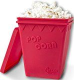 #9: Microwave Popcorn Popper | Replaces Microwave Popcorn Bags | Enjoy Healthy Air Popped Popcorn  No Oil Needed | BPA Free Premium European Grade Silicone Popcorn Maker by Cestari Kitchen (Makes 8 Cups)
