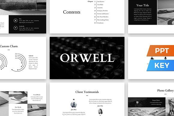 Orwell Presentation Template by SlideStation on @creativemarket